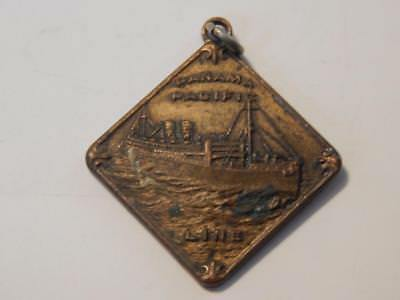 Vintage Panama Pacific Line S.s. California Ship Pictorial Medal Token