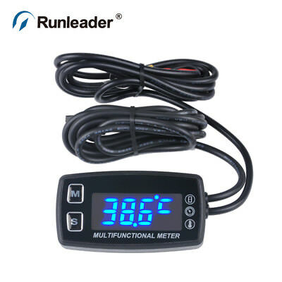 HM035LT Tach Hour Meter thermometer waterproof Tachometer Motorcycle digital
