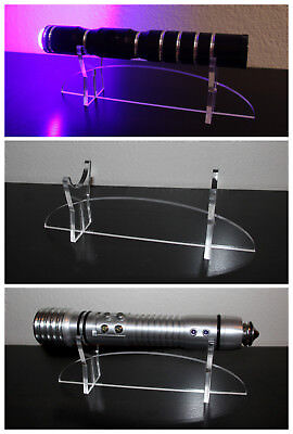 Clear Acrylic Lightsaber Stand - Star Wars, Cosplay, Prop Display - UNIVERSAL