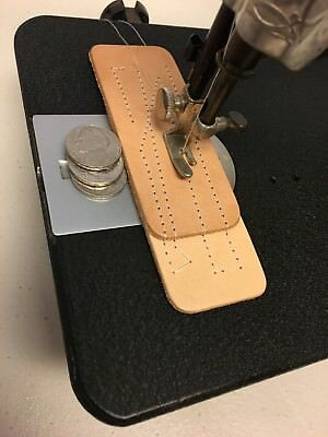 INDUSTRIAL STRENGTH HEAVY DUTY VNTG SINGER SEWING MACHINE SEW LEATHER w/ EXTRAS
