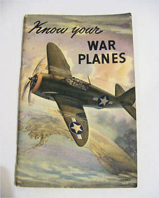 Coca Cola WWII Know your War Planes booklet 1943 - NR