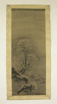 "JAPANESE MAKURI,HONSHI : SESSHU TOYO ""Winter Scenery""  @s266"