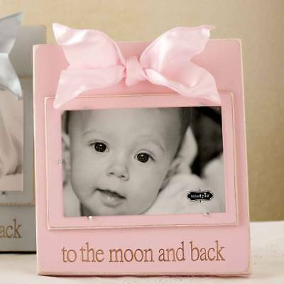 Mud Pie To the Moon and Back Wood Pink Frame - DISCONTINUED