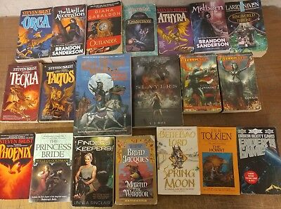 Lot of 100 Science Fiction Fantasy Vintage Rare Book Paperback SCI-FI UNSORTED