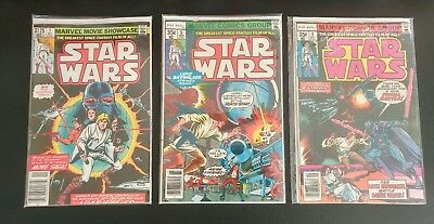 Vintage Marvel Star Wars Comic Book Lot of 3 1977 1-4 5 and 6