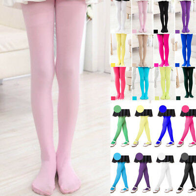 Kids Girls Tights Ballet Dancing Pantyhose Hosiery Colorful Stockings Trousers