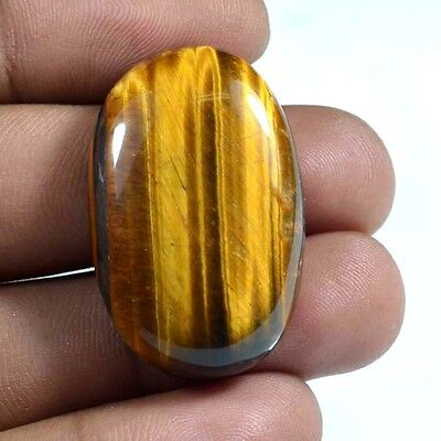 Fine Quality Natural Yellow Tiger Eye Jasper Oval Cabochon Loose Gemstone 54 Cts