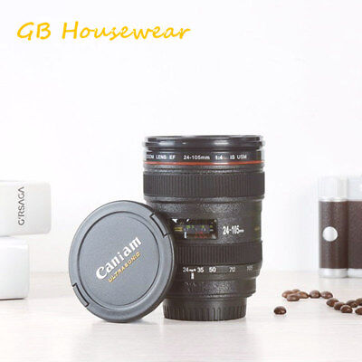Camera Lens Cup 24-105 Coffee Travel Mug Thermos Stainless Steel