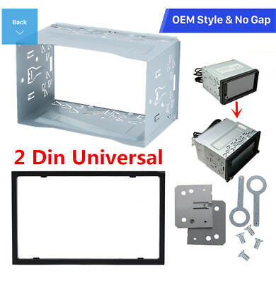 2Din Car Stereo Install Dash Bezel Panel for Car Radio DVD Player Mounting Frame