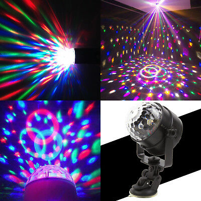 RGB LED Remote Disco Home Party Crystal Magic Ball Stage Effect Light Lamp