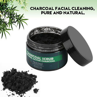 Bamboo Charcoal Exfoliating Scrub Salt Body Face Dead Skin Remover Whitening
