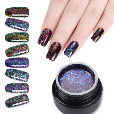5ml UR SUGAR Soak Off UV Gel Nail Polish Chameleon Glitter Starry Gel Varnish