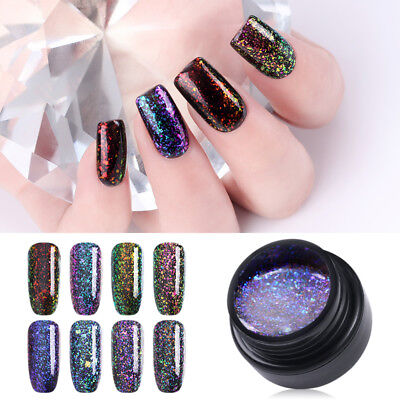 5ml Chameleon Soak Off UV Gel Nail Polish Glitter Starry Gel Varnish UR SUGAR
