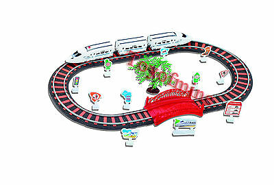 Railway Train Toy Rail Car Boxed Slot car Set Latest Livery 69.5cm x 34cm 6704