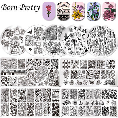 24 Style Nail Art Pochoir Stamping Template Plaque Ongle Image Acier Stamp Décor