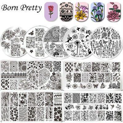 28 Style Nail Art Pochoir Stamping Template Plaque Ongle Image Acier Stamp Décor