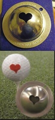1 only TIN CUP GOLF BALL MARKER - KISS ME - ACE OF HEARTS - EASY TO DO