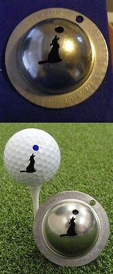 1 only TIN CUP GOLF BALL MARKER-HOWL AT MOON - BUY ANY 2  CUPS get special offer