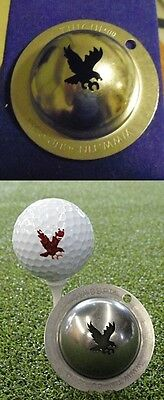 1 only TIN CUP GOLF  BALL MARKER - DOUBLE EAGLE - EASY TO DO & Yours for life