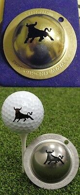 1 only TIN CUP GOLF BALL MARKER- RAGING BULL -buy any 2 receive special offer