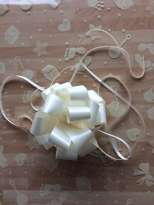 Cellophane gift wrap 2m x 80 cm- Ivory Baby Shapes Boy Girl FREE PULL BOW