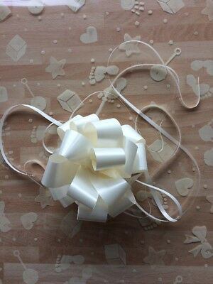 Cellophane gift wrap 5m X 80 cm- Ivory Baby Shapes Boy Girl 3 FREE PULL BOWS