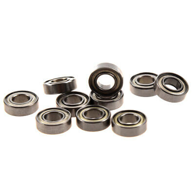 10 Pcs 698Z 8 x 19 x6mm Single Row Sealed Deep Groove Ball Bearings W3H8