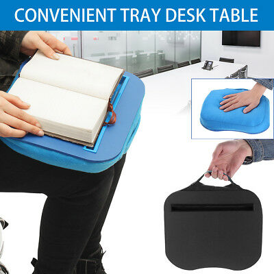 AU Portable Tray Lap Desk Table Cushioned Computer Reading Writing Laptop Pad