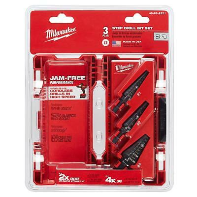 Milwaukee 3 PC Step Drill Bit Set (48-89-9221)