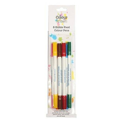 Colour Splash Food Colour Pens Assorted 8 Pack, edible food colouring, Multipack