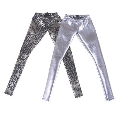 Fashion Fake Snake Trousers Pants For Barbie 1/6 BJD Dolls Clothes AccessoriesHG