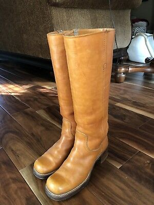 Vintage Black Label Frye Campus Boots 7.5