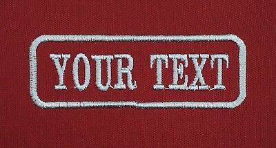 1 Line Maroon Twill Cloth Personalised Name Patch Badge Biker Scooter Iron On