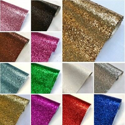 Glitter Fabric Sparkly Chunky Material Decor, Bows & Crafts Sheets