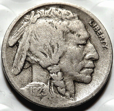 1923-S Buffalo/indian Nickel. Fine+ Coin. Clear Date & Mm. Full Liberty.  #715