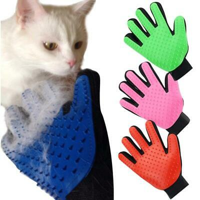 True Touch Deshedding Glove Gentle And Efficient Pet Dog Cat Massage Grooming UK