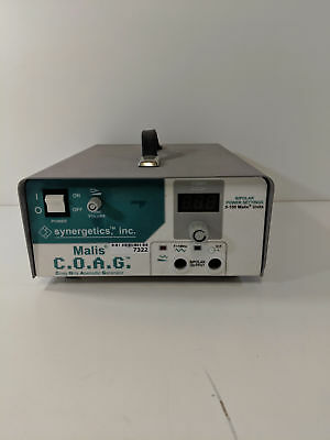 Synergetics Malis C.O.A.G. Electrosurgical Unit Coagulation Unit with Foot Pedal