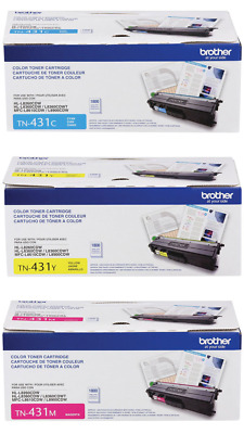 Genuine Oem Brother Tn431C Tn431Y Tn431M Toner Set (3-Pack) Brand New