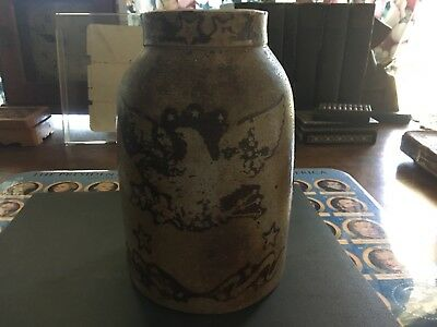 old crock jar with eagle and stars think it was for canning