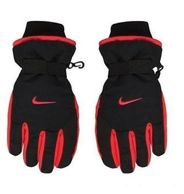 NEW Nike Boys Red/Black 3M Thinsulate Ski Gloves, Size 8/20 - No Tags
