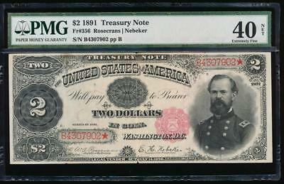 AC Fr 356 1891 $2 Treasury Coin Note McPHERSON PMG 40 NET