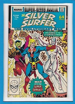 Silver Surfer Super-Sized Annual #1_1988_Very Fine+_Eternals_Super-Skrull_Ikaris