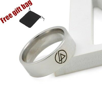 Linkin Park Symbol Logo Rings Chester Rock Band Gift Stainless Steel LP UK Sell