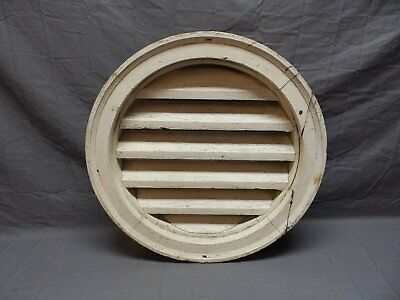 "Antique Round Louvered Vent 23"" Shabby Vtg Chic Old Circle Screen Attic 671-18P"