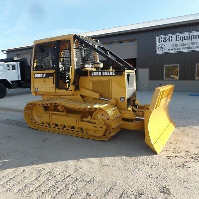 1994 John Deere 450G Dozer With Front WINCH! Good shape! EX Government LOW HOURS