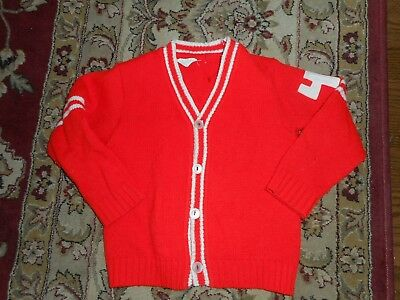 Vintage Merry Mites by Young World Girls Boys Cardigan Sweater Child Size 4-5