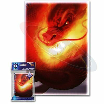 (120) Max Protection Inferno Design Small Gaming Trading Card Protector Sleeves
