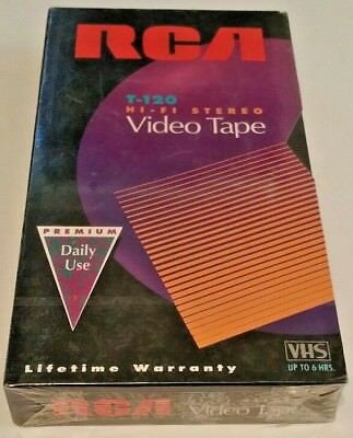 RCA T-120 H I - F I Stereo Video Tape VHS 6 HRS