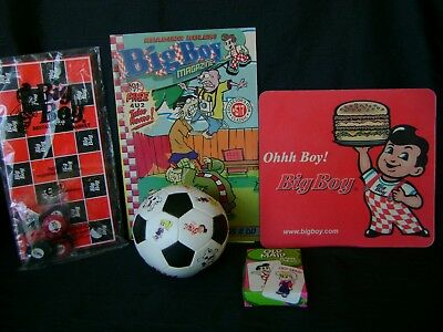 Elias Brothers BIG BOY Items Fast foodComic,Checkers,Ball,Mouse Pad Old Maid ca