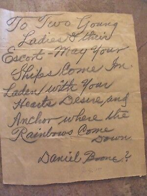 Old Letter Removed From 1930's Scrapbook